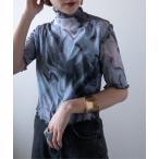 tシャツ Tシャツ 【PUBLUX/パブリュクス】マーブルシアータートルモックネックTシャツ