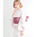 浴衣 1人で着られる浴衣5点セット 和歌山染工日本染め(ゆかた・しわへこ帯・下駄・着付け本・腰ひも)【K】