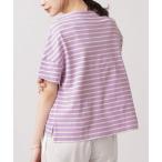 tシャツ Tシャツ WEB限定/ボーダーワイドドロップTシャツ 半袖