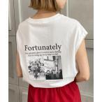 tシャツ Tシャツ コットン100%バックフォトプリントノースリーブT