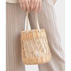 バッグ カゴバッグ 編み柳巾着バッグ