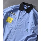 シャツ ブラウス WEB限定 SANTA CRUZ/サンタクルーズ 別注 ショートスリーブ クレリックワークシャツ/ビッグシルエット/レオパード柄/セ
