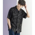 シャツ ブラウス レーヨン アロハシャツ レギュラーサイズ 総柄 オープンカラーシャツ