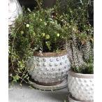 花瓶 TERRACOTTA BUBBLE POT M/テラコッタ バブルポット M