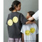 tシャツ Tシャツ 【スマイリー コラボ】バックスマイリープリント半袖Tシャツ