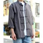 シャツ ブラウス 【yield select】KUNG-FU SHIRT カンフーシャツ チャイナシャツ ビック シルエット 無地 シャツ