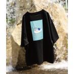 tシャツ Tシャツ 【WEB限定】【限定別注】古着風 バカンスサマーボーイ イージーケア 高密度ビッグシルエットイラストTシャツ バックプリント【ユニ