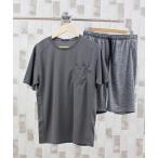 ルームウェア パジャマ 【2021】セットアップ 吸汗速乾無地クルーネック半袖Tシャツ&ショーツ