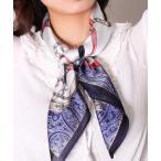 スカーフ バンダナ 【ユニセックス】リング ベルト チェーン 柄 プリント スカーフ(CR)