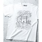 tシャツ Tシャツ PROFUMO(プロフーモ) 花柄 プリント Tシャツ