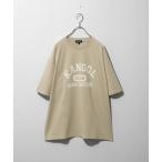 tシャツ Tシャツ 【別注・コラボ】【ZIP FIVE×KANGOL】古着風カレッジロゴTシャツ【ユニセックス】