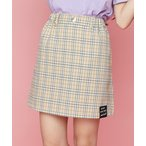 スカート チェック台形スカート