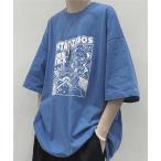 「tシャツ Tシャツ 【HOOK】【新作】 アニメイラストフロントプリントtシャツ」の画像
