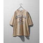 tシャツ Tシャツ 古着風クラックプリントビッグTシャツ【ユニセックス】