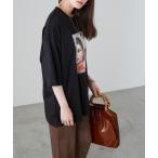 tシャツ Tシャツ photo転写プリントデザインビックTシャツ