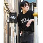 tシャツ Tシャツ 【FILA】高密度 古着風ヴィンテージカレッジロゴビッグシルエット半袖Tシャツ【ユニセックス】【リンクコーデ】