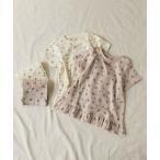 ルームウェア パジャマ さくらんぼ・花柄楊柳パジャマ 5分丈