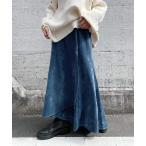スカート スモークベロアマーメイドスカート