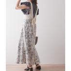 スカート 【Lilipetit×Rina】パネル柄マーメイドロングスカート