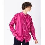 シャツ ブラウス 【Individualized shirts / インディビジュアライズド シャツ】別注ブッチャー ストライプ シャツ