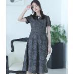 ドレス はしごレースパーティードレスお呼ばれ袖あり&ミニ丈結婚式フォーマル