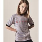 tシャツ Tシャツ MARNI(マルニ)Kids & Junior  ブランドロゴプリントボーダー半袖Tシャツカットソー