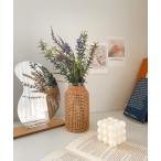 花瓶 ラタンフラワーベース