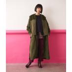 【SUM1 STYLE(スミ スタイル)】キルティングベスト付き3WAY馬刺繍コート