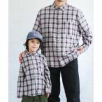 シャツ ブラウス 【パパとおそろい】ユニセックス長袖チェック柄ライトネルシャツ