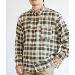 シャツ ブラウス 【パパサイズ】長袖チェック柄ライトネルシャツ