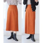 スカート 【選べる着丈】程よいストレッチ感。ベロアタッチタイトスカート
