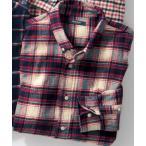 シャツ ブラウス 綿100%チェック柄ネルシャツ