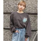 tシャツ Tシャツ 2021AW ワッペン風刺繍ロゴロンT