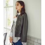 ジャケット ブルゾン 【追加生産】【S Size Line】フェイクレザージャケット