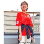 tシャツ Tシャツ 東京2020オリンピック日本代表選手団公式応援グッズ: TEAM RED Tシャツ