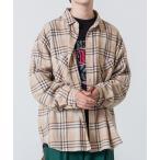 シャツ ブラウス WEGO/ビッグシルエットネルシャツ