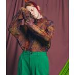 tシャツ Tシャツ 《ユニセックスアイテム》アブストラクトパイルジャガードプライムオーバータートルネックロングスリーブTシャツ 【MAISON SPE