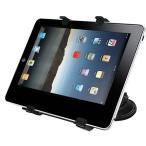吸盤式タブレットスタンド iPad/GalaxyTabスタンド 360度回転・強力吸盤・調整可能・自由自在【あすつく】