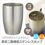 真空ステンレスカップ 保冷 保温 250ml 真空二重構造 真空断熱構造 クール&ホット【早ければ即日発送!】