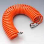コイル型のエアーホース ワンタッチで簡単接続!サッと伸縮して便利 長さ約6m あすつく対応 エアーコイルホース