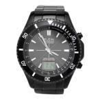 エルジン ELGIN 電波 ソーラー ワールドタイム 腕時計  アナログ デジタル アナデジ FK1371B-BP