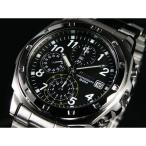 SEIKO SND195PC メンズ腕時計 海外モデル クロノグラフ ブラック