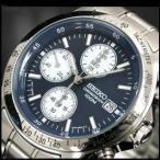 SEIKO SND365PC メンズ腕時計 海外モデル クロノグラフ ネイビー