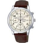SEIKO メンズ腕時計 海外モデル 革バンド クロノグラフ SNDC31P1