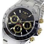 テクノス TECHNOS クロノ クオーツ メンズ 腕時計 TSM401LB ブラック 【ポイント2倍】