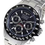 テクノス TECHNOS クロノ クオーツ メンズ 腕時計 TSM401TB ブラック 【ポイント5倍】