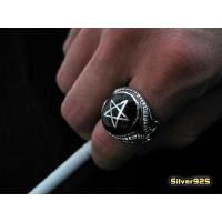 ペンタグラムリング(黒)19号 21号 23号 メイン 星 指輪|0001pppcom|03