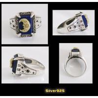 (GV)ラピスラズリと三日月の指輪SV+B 星天然石 メイン|0001pppcom|02