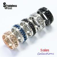 ステンレス リング(24)チェーン付 選択可 銀色 青色 黒色 ピンクゴールド 10号から28号 メイン 316L 指輪 送料無料 金属アレルギー対応|0001pppcom