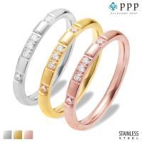 ステンレス リング(26)CZ 選択可 金色 銀色 ピンクゴールド  07号 09号 10号 11号 12号 13号 15号 16号 18号 19号 メイン 316L 指輪|0001pppcom